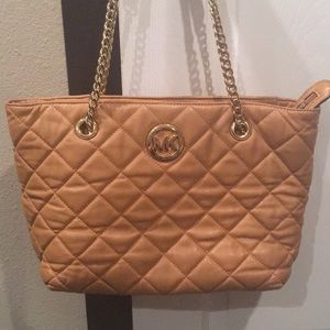 Michael Kors Quilted Fulton East/West Walnut